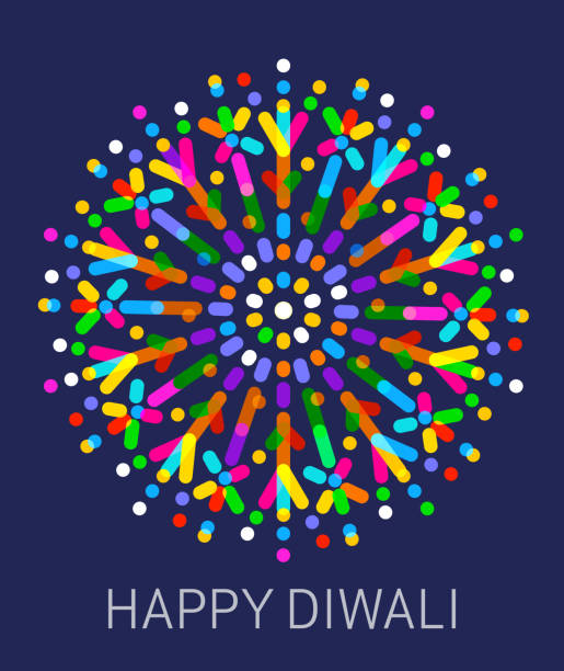 happy diwali - diwali stock illustrations, clip art, cartoons, & icons