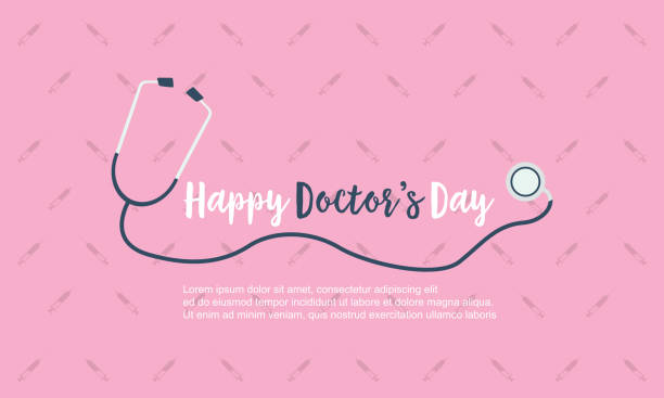 happy doctor day background card style vector art - happy holidays stock illustrations