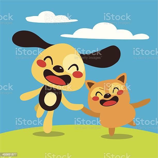 Happy dog and cat vector id455651877?b=1&k=6&m=455651877&s=612x612&h=bqqrf3b1ps6u14u xmeoyoypxhvxh59amf79eqzqzvm=