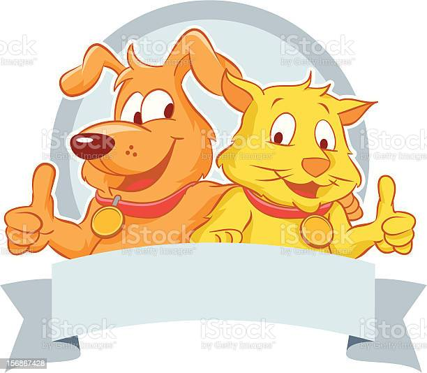 Happy dog and cat with a blank ribbon vector id156867428?b=1&k=6&m=156867428&s=612x612&h=rgof5pftmx ukspskigjxr2uayve88vfkl4x8uvgbeu=
