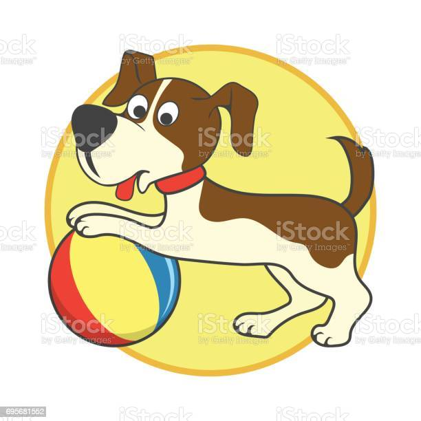 Happy dog playing a ball pet toys accessories vector illustration vector id695681552?b=1&k=6&m=695681552&s=612x612&h=xxuw7dxfgcgnpu2fao02d1rnvzw3m8wwirbldyn3ch8=