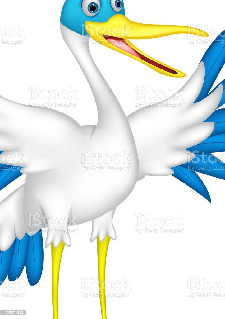 happy duck cartoon royalty-free stock vector art