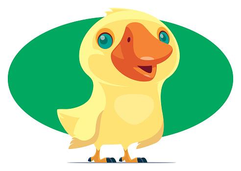 happy duckling character