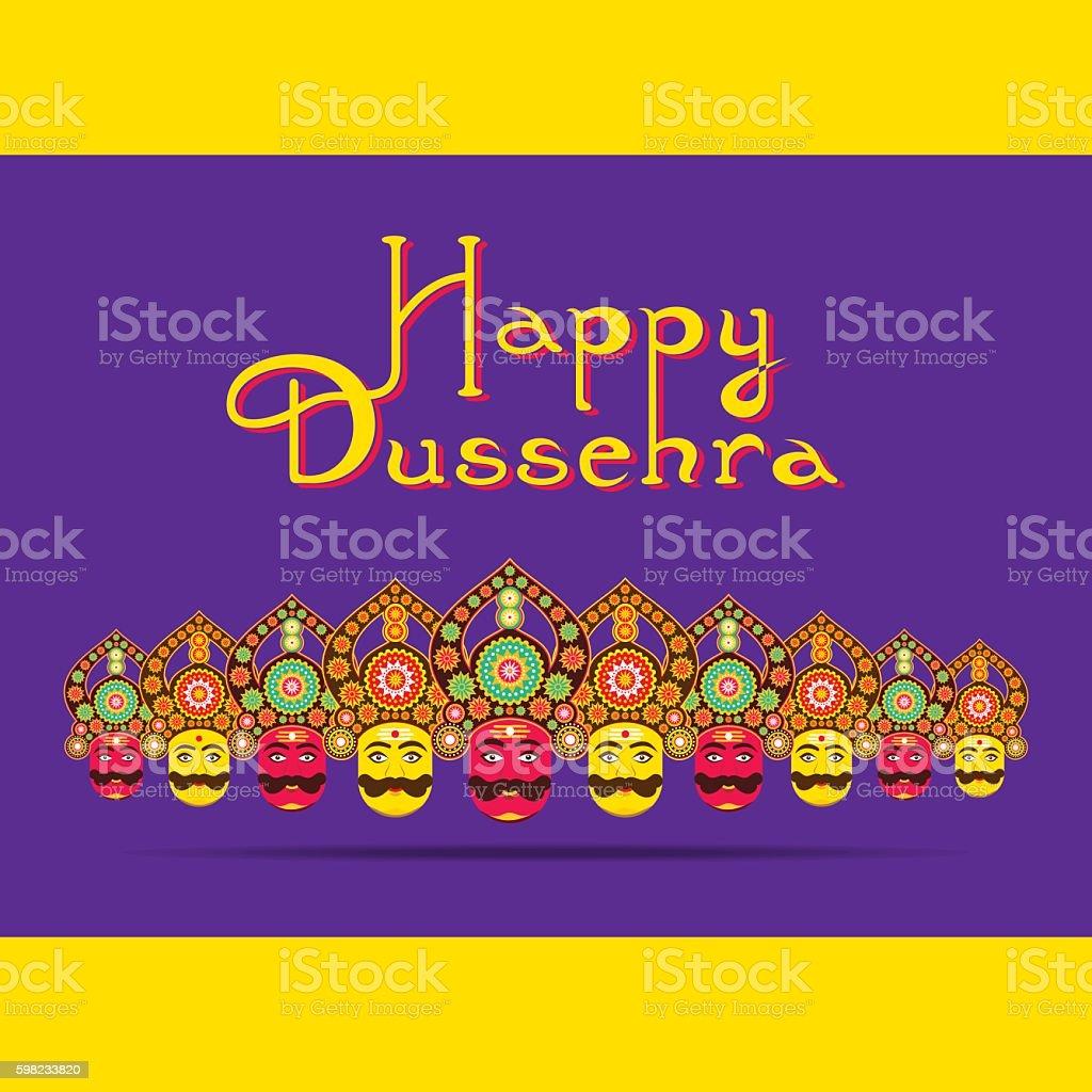 happy dussehra festival greeting design ilustração de happy dussehra festival greeting design e mais banco de imagens de amarelo royalty-free