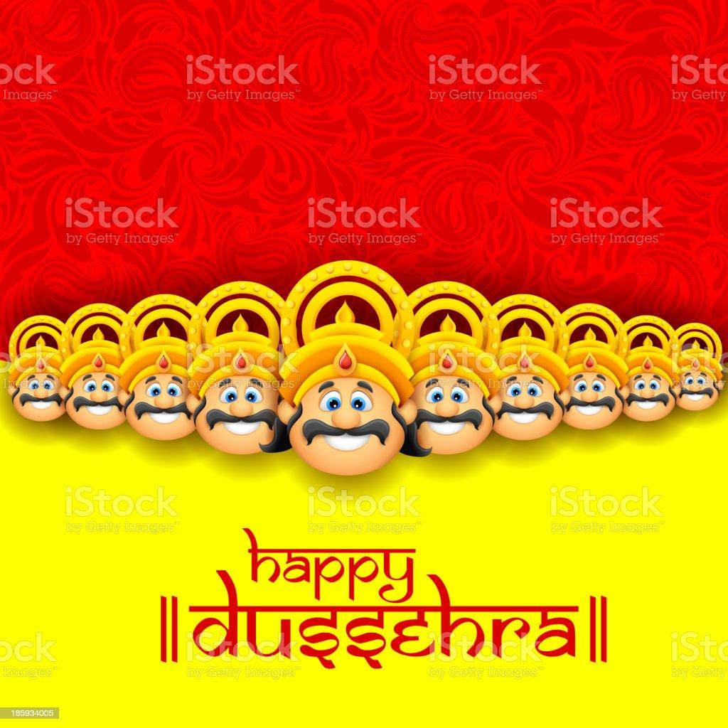 Happy Dussehra royalty-free stock vector art