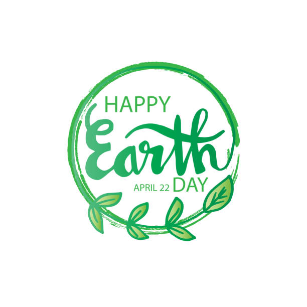 happy earth day. april 22 - earth day stock illustrations, clip art, cartoons, & icons