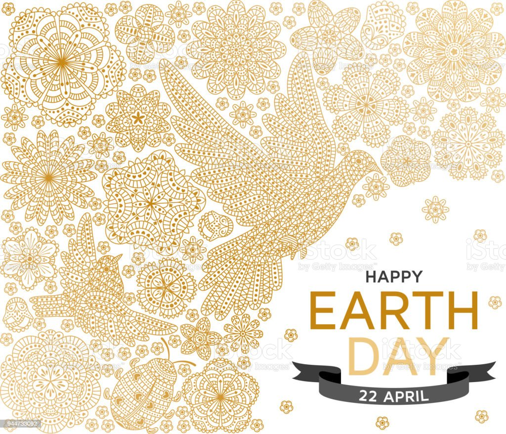 Happy Earth Day Background Good Design Template For Banner Greeting ...