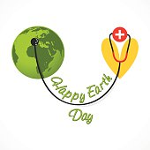 happy earth day banner design