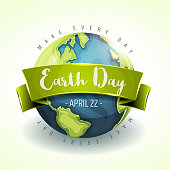 Illustration of a happy earth day banner, for environment safety celebration