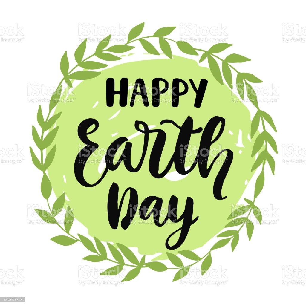 Cartel feliz del día de la tierra, banner, diseño de tarjetas de felicitación - ilustración de arte vectorial