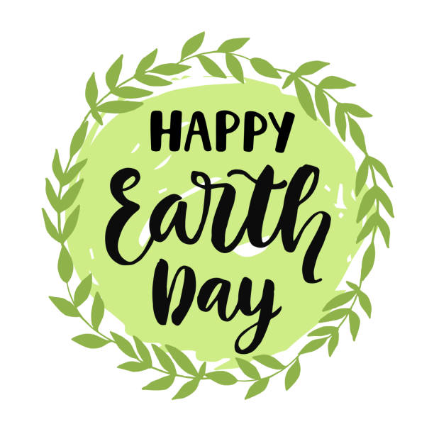 happy earth day poster, banner, greeting card design - earth day stock illustrations