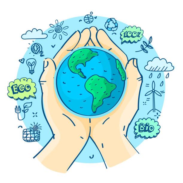 bildbanksillustrationer, clip art samt tecknat material och ikoner med glad jordens dag. - recycling heart
