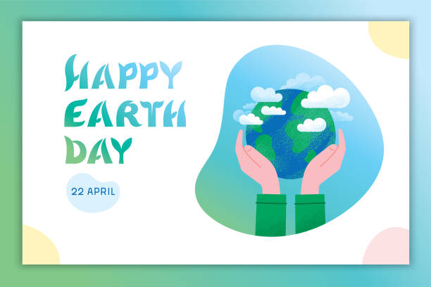 Happy Earth Day – Vektorgrafik