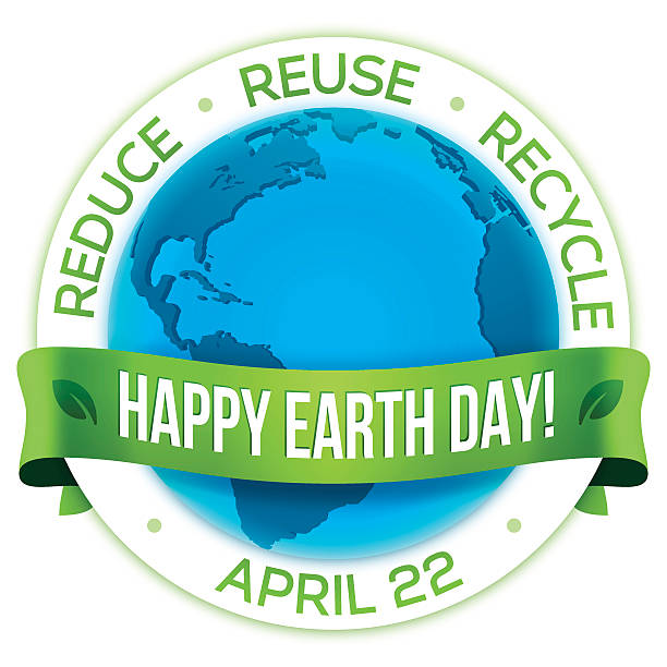 happy earth day! - earth day stock illustrations