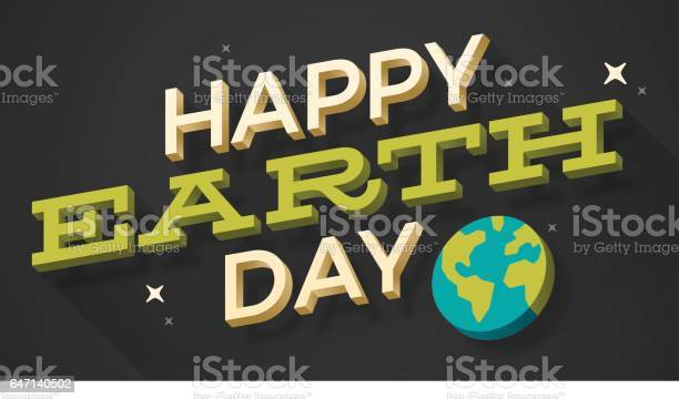 Happy Earth Day Stock Illustration - Download Image Now