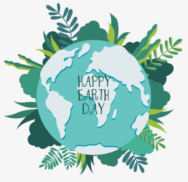 Happy Earth day vector illustration. Eco friendly ecology concept Happy Earth day vector illustration. Eco friendly ecology concept earth day stock illustrations