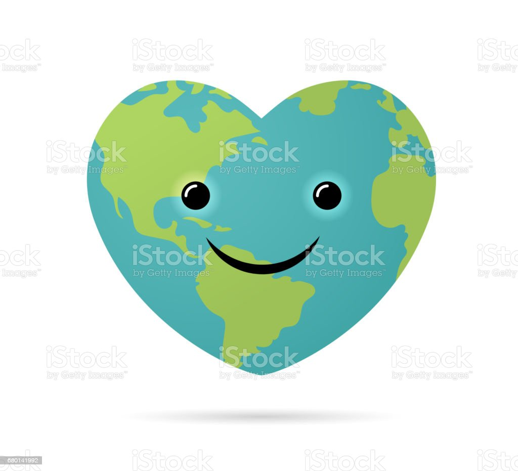Happy earth day world environment day design of poster card and banner sign dirt heart shape smiling symbol happy earth day buycottarizona