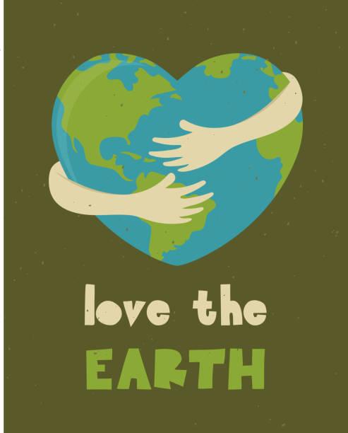 bildbanksillustrationer, clip art samt tecknat material och ikoner med glad earth day, världsmiljödagen - recycling heart
