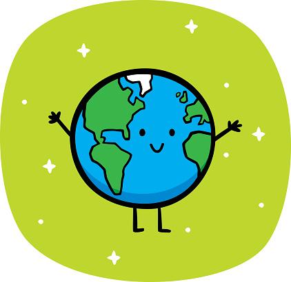 Happy Earth Doodle