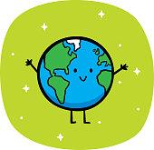 istock Happy Earth Doodle 1187712122