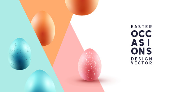 Happy Easter Abstract Background