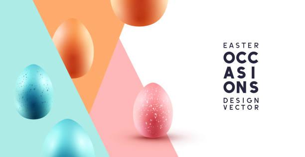 행복 한 부활절 추상적인 배경 - 부활절 달걀 stock illustrations