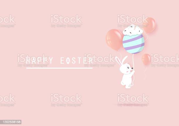 Happy easter adorable rabbit flying with fancy egg and balloons on vector id1202538158?b=1&k=6&m=1202538158&s=612x612&h=0xwtluhcvegqgcrgapzypcqb fmj9c6 irtcckyzj8k=