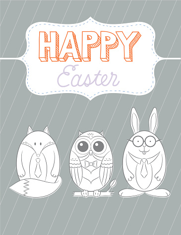 Happy Easter Animal Eggs