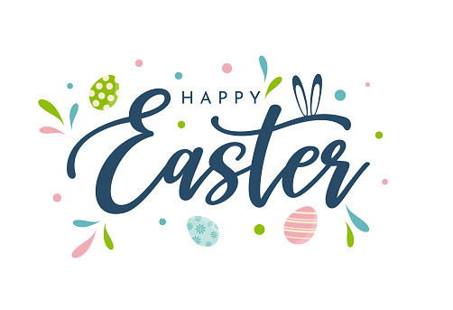 Happy Easter background, card, poster. Vector