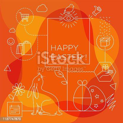 istock Happy easter background 1137747870