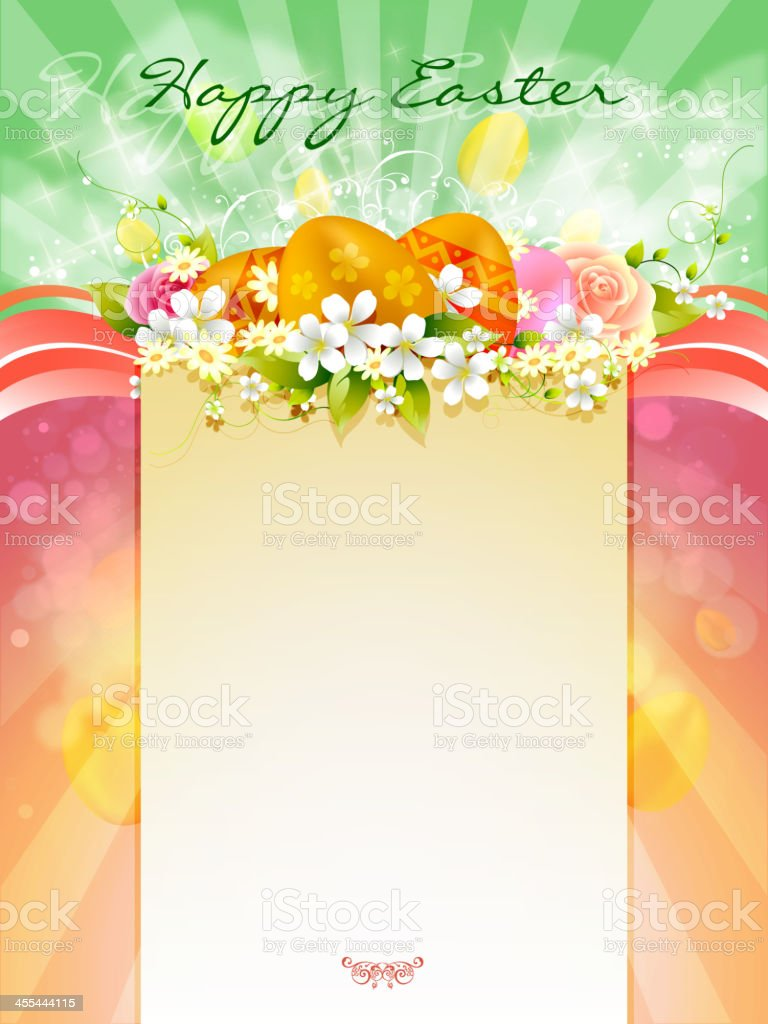 Happy Easter Background royalty-free happy easter background stock vector art & more images of animal markings