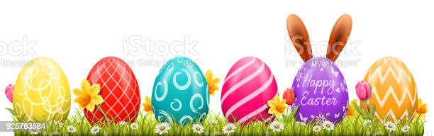 Happy easter background with easter eggs and easter bunny vector id925763584?b=1&k=6&m=925763584&s=612x612&h=yfeluuwmy 75t29mog9k inyczgnxq29rjllobocivy=