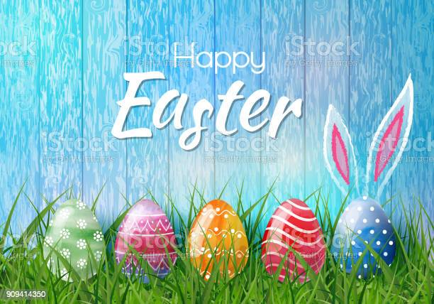 Happy easter background with realistic easter eggs easter card vector id909414350?b=1&k=6&m=909414350&s=612x612&h=3lqs7cg4kqjmdfwqegx9u 8lhie2zkrjgq8rop4hzye=