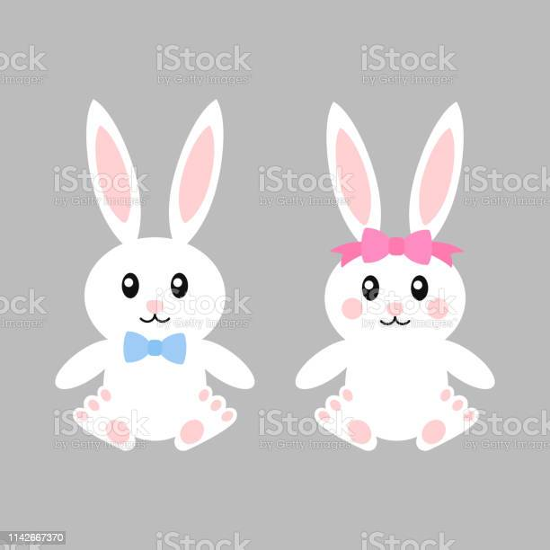 Happy easter bunnies with bows vector illustration cute bunny girl vector id1142667370?b=1&k=6&m=1142667370&s=612x612&h=4byifaac46vxgdxi1qjmgiwh1qzeijhzkubaqeu o6k=