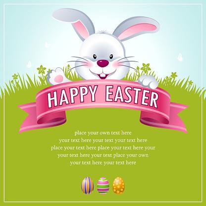 Happy Easter Bunny Banner