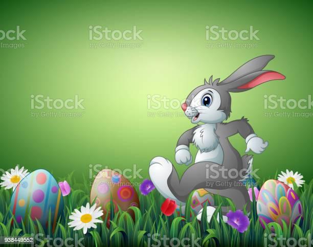Happy easter bunny cartoon with decorated easter eggs in a field vector id938449552?b=1&k=6&m=938449552&s=612x612&h=gpn9 ebe2kboo1sbraex9myeltz 08oczh8mubfwwdi=
