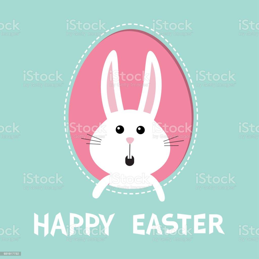 Ilustración de Feliz Pascua De Resurrección Conejo Conejo Liebre ...