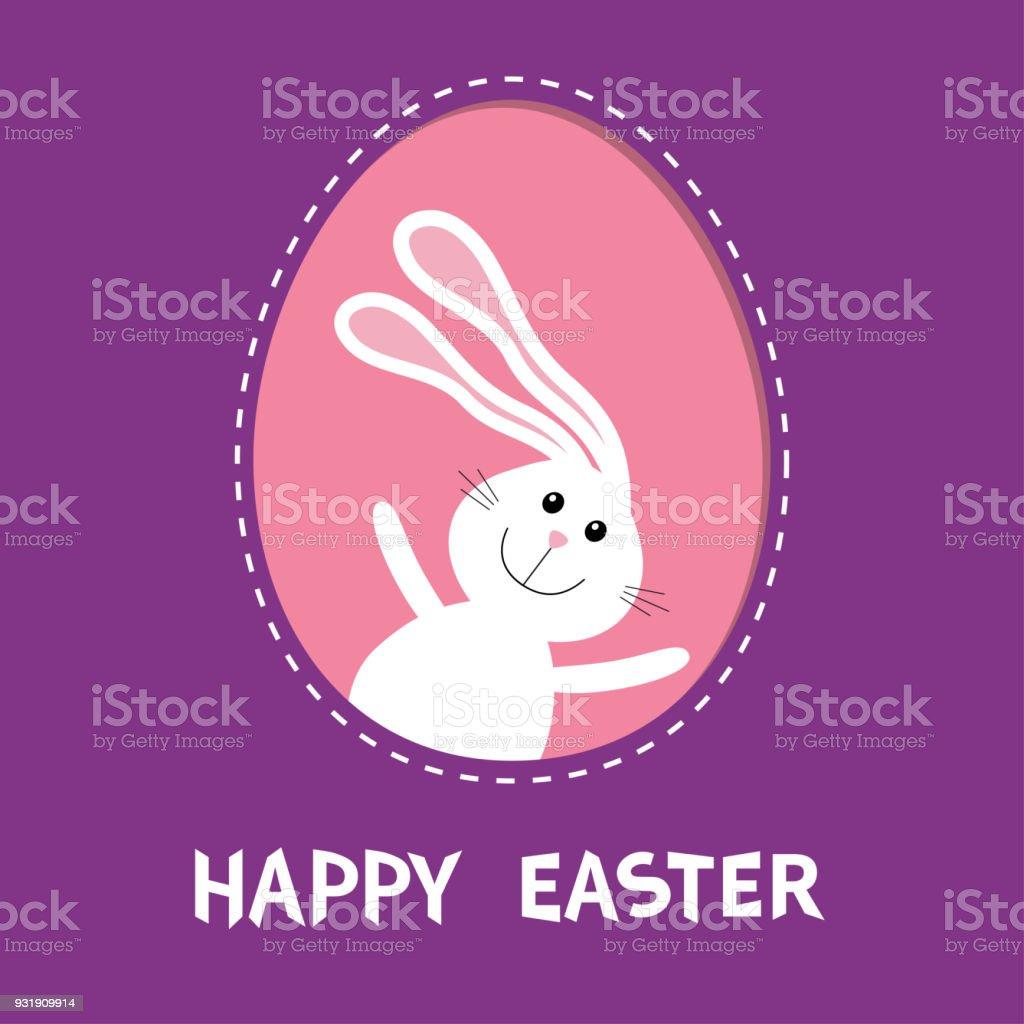 Ilustración de Feliz Pascua De Resurrección Conejo Conejo Liebre Con ...