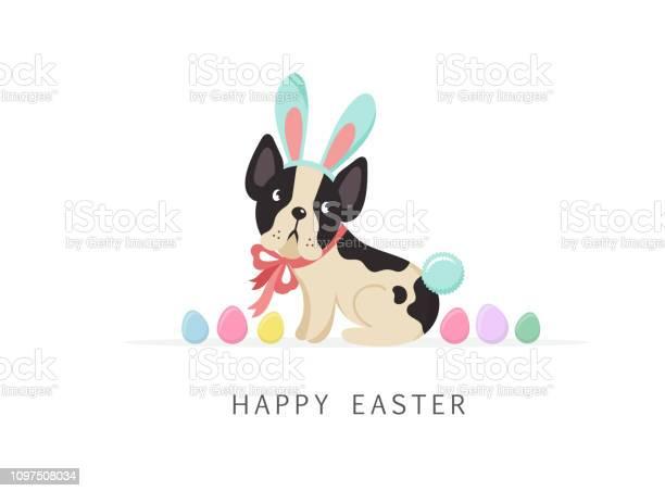 Happy easter card dog wearing bunny costume vector id1097508034?b=1&k=6&m=1097508034&s=612x612&h=nji2yuyxk6xnz96coltytm  z6amni4i7meiycdwtda=
