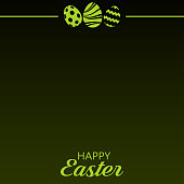 Happy Easter card with eggs. vector.