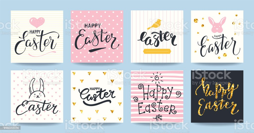 happy easter congratulations card design templates stock vector art