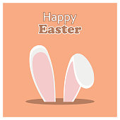Happy Easter day card with creative design typography and light theme vector. For web design and application interface, also useful for infographics. Vector illustration.- This Vector EPS 10 illustration is best for print media, web design, application design user interface and infographics with well composed layers for the ease of user.