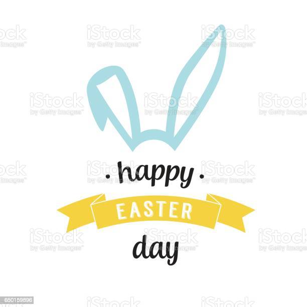 Happy easter day lettering with bunny ears vector id650159896?b=1&k=6&m=650159896&s=612x612&h=owvp9i4pw9pj0lgumpeuqd7vdfo2u3v5toxqy7o5sby=