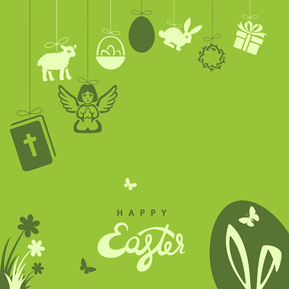 Happy Easter design for templates posters banners and cards.