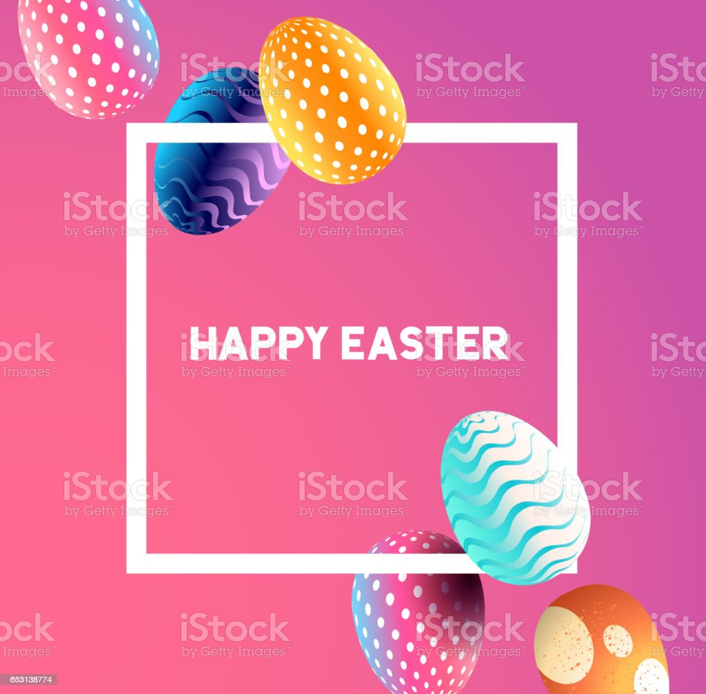 Happy Easter Design vector art illustration