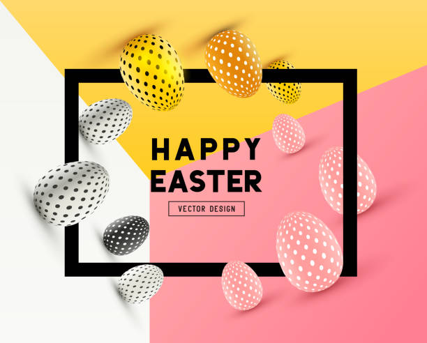 Happy Easter Design - Illustration vectorielle
