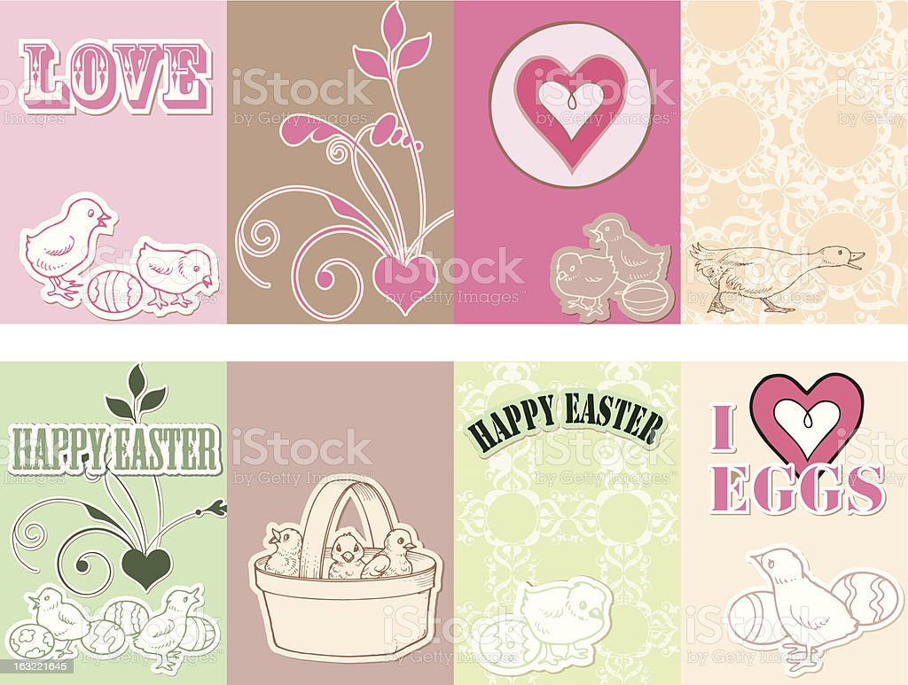 Happy Easter Designs 1 royalty-free stock vector art