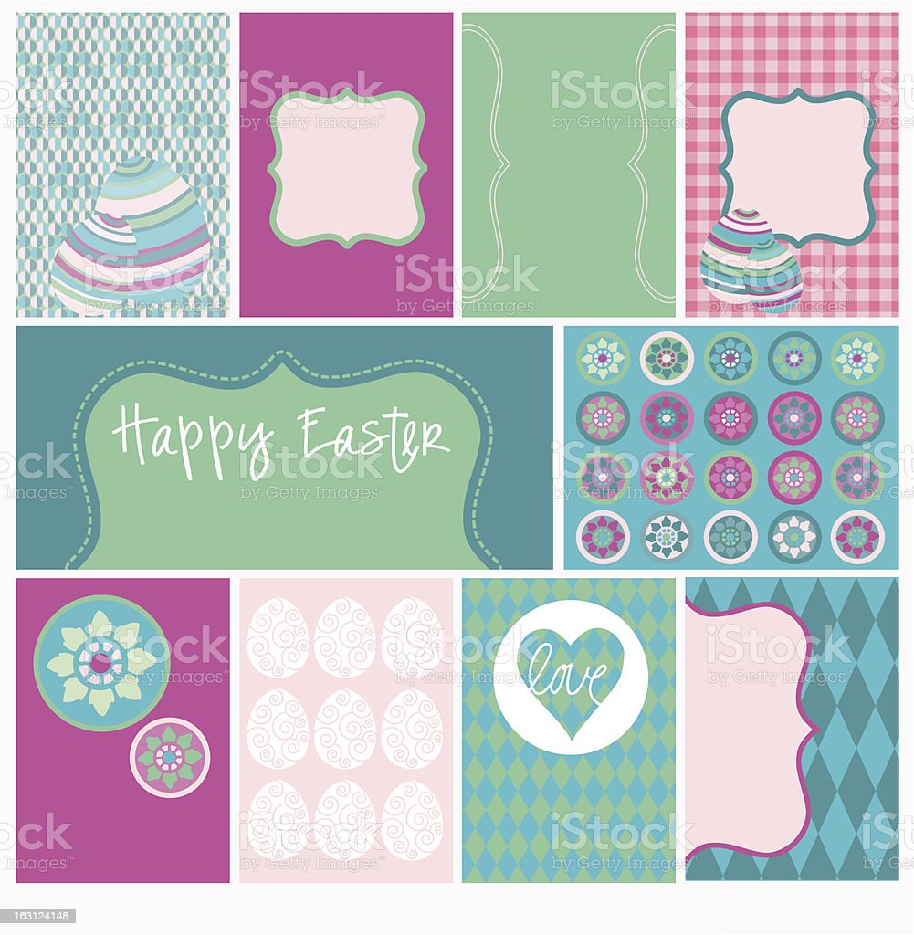 Happy Easter Designs 9 royalty-free stock vector art