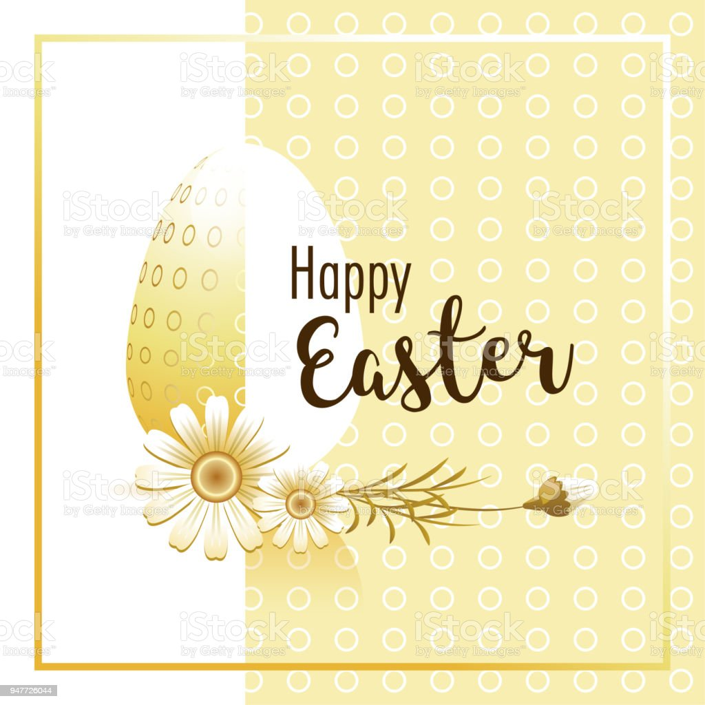 Happy Easter Easter Greeting Card Stock Vector Art More Images Of