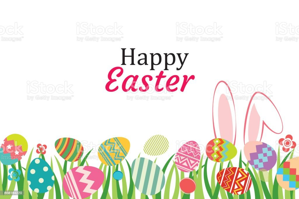 Happy easter egg background template.Can be used for greeting card, ad, wallpaper,flyers, invitation, posters, brochure. vector art illustration